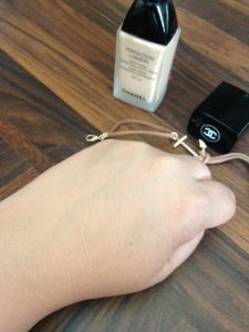 Chanel Perfection Lumiere Foundation blended
